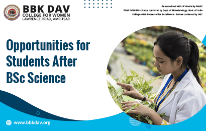 Opportunities for Students After BSc Science